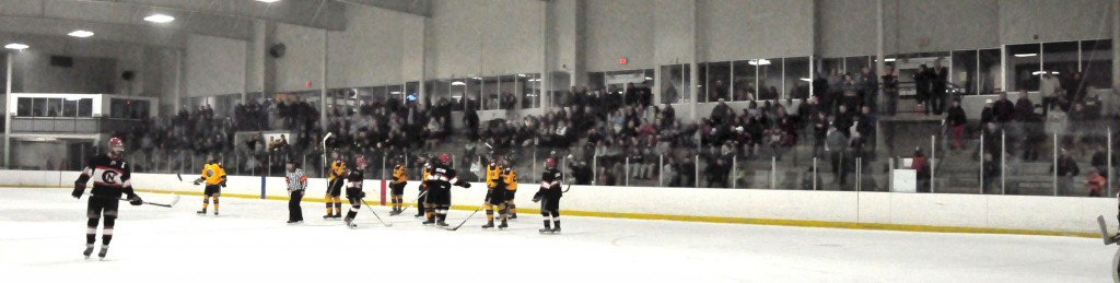 The inaugural EHL championship had a packed arena for the entire series