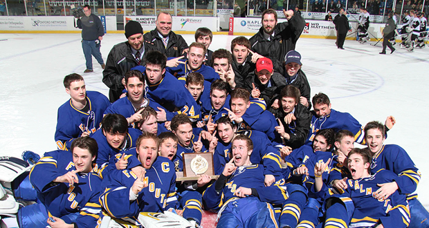 Maine Class A Final: Falmouth repeats, edges St. Dom's in OT, 3-2